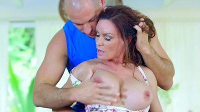 Diamond Foxxx gets fucked like a doggy in her asshole by her neighbor