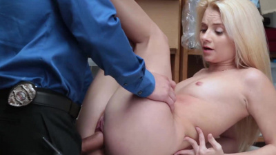 Riley Star is caught shoplifting & fucked by the LP officer