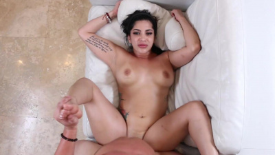 Curvy babe Kitty Caprice gets bent and deeply fucked by her hunky coach