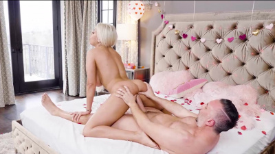 Bridgette B offers her asshole as a present for Valentine's Day