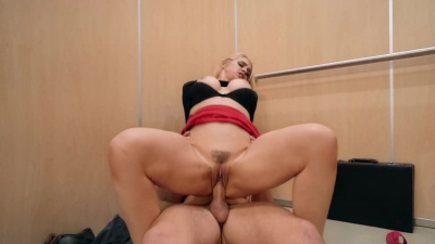 Sarah Vandella having hardcore revenge fuck in the elevator