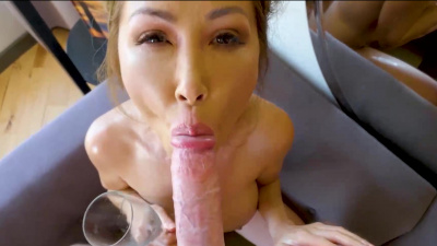 Asian milf Kianna Dior suck & fuck her stepson in the bathtub