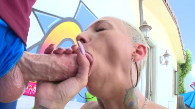 Lisey Sweet seduces bf's hung pal into intense anal fuck