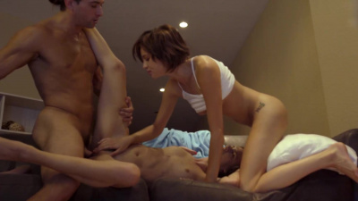 PJ party with Alex More and Cadey Mercury turning into hot threesome