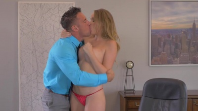 Alexis Adams takes bf's angry cock in the office