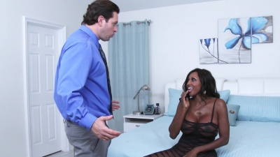 Wife let`s husband fuck her ebony best friend Diamond Jackson