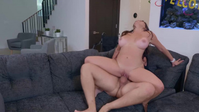 Big-titted caretaker Julianna Vega sticking cock inside of her wet pussy