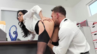 Vicki Chase' pussy makes the work environment a much better place