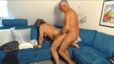 Experienced granny Karin goes dirty on her old husband