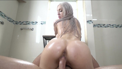 Skylar Vox give a sexy shower tear that leads to masturbation and wet, intense sex