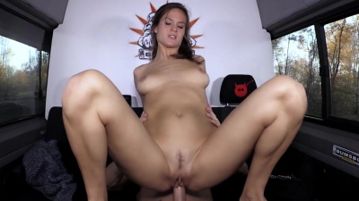 Dirty whore Luisa W hardcore sex in the car
