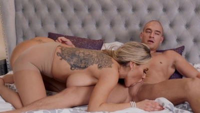Extremely horny Olivia Austin seduces married guy
