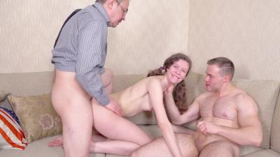 Lazy student Sofi Smile earns her grades via threesome