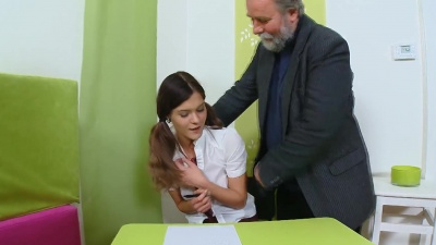 Nadya takes her old teacher's cock doggystyle & gets her ass jizzed