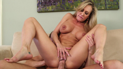 Brandi Love can't resist her son's friend young cock
