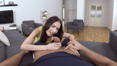 Hot smoking Roxy Sky receives a load of fresh sperm VR
