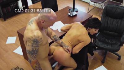 Horrible boss harasses her hot secretary Becky Bandini