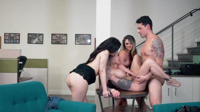 Athena Faris, Valentina Nappi and Karma RX reverse gangbang
