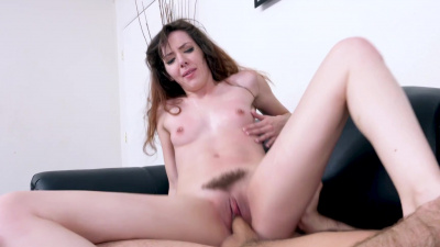 Ember Stone gets her holes rammed on casting couch