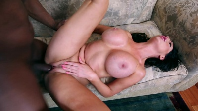 Busty milf Nikki Benz fucks and sucks a huge black monster cock